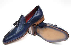 Blue Tassel Leather Loafer - TieThis® Neckwear and Accessories