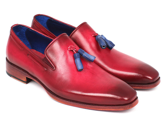 Shoes - Paul Parkman Men's Tassel Loafer Burgundy (ID#5141BUR)