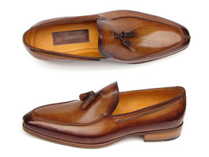 Paul Parkman Tassel Loafer Camel & Brown - TieThis® Neckwear and Accessories