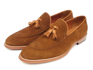 Paul Parkman Tassel Loafer Light Brown Suede - TieThis® Neckwear and Accessories