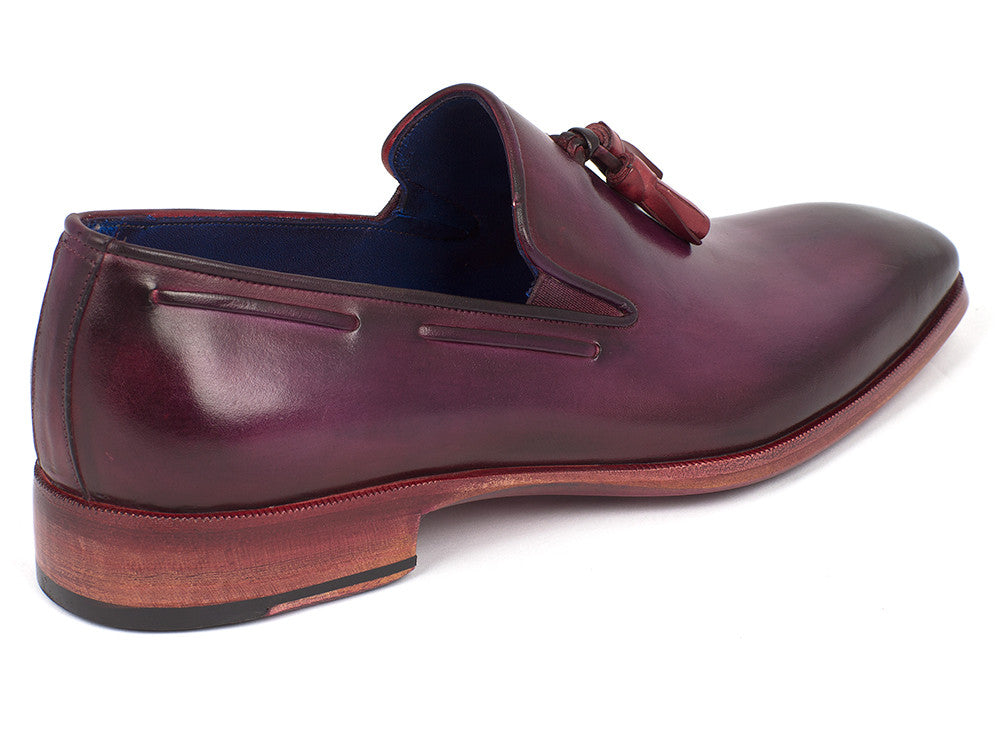 Shoes - Paul Parkman Men's Tassel Loafer Purple (ID#5141PRP)