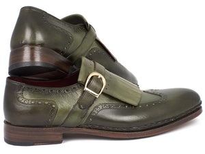 Wingtip Monkstrap Brogues With Double Leather Sole - TieThis® Neckwear and Accessories