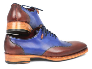 Paul Parkman Wingtip Oxford Goodyear Welted Blue & Brown - TieThis® Neckwear and Accessories