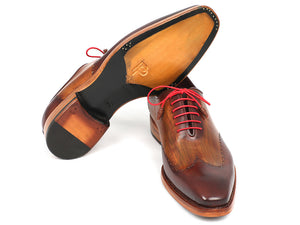 Wingtip Oxford Goodyear Welted Brown & Camel - Tie This Menswear and Accessories
