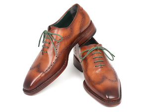 Paul Parkman Wingtip Oxford Goodyear Welted Camel Brown - TieThis Neckwear and Accessories and TieThis.com