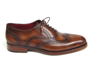 Paul Parkman Wingtip Oxford Goodyear Welted Light Brown - TieThis Neckwear and Accessories and TieThis.com