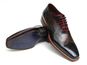 Paul Parkman Wingtip Oxford Goodyear Welted Navy/ Red/ Black - TieThis Neckwear and Accessories and TieThis.com
