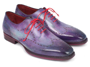 Paul Parkman Wingtip Oxfords Goodyear Welted Purple - TieThis® Neckwear and Accessories
