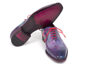 Paul Parkman Wingtip Oxfords Goodyear Welted Purple - TieThis Neckwear and Accessories and TieThis.com