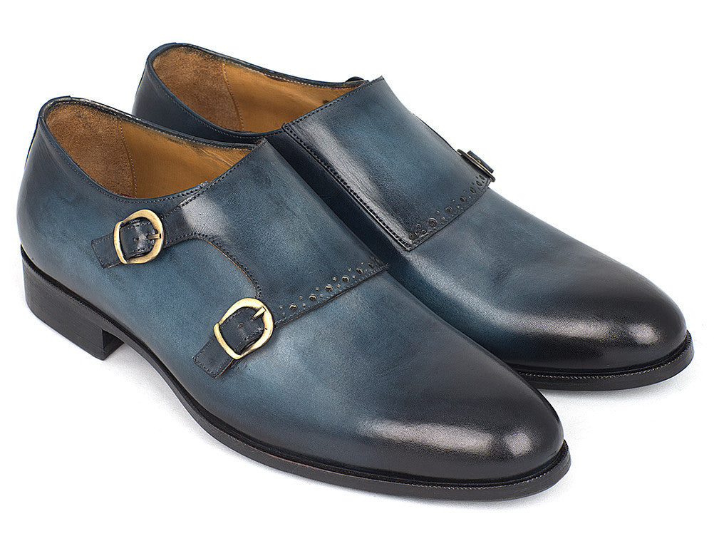 65c1456584ff2 Paul Parkman Navy Double Monkstrap - TieThis Neckwear and Accessories and  TieThis.com