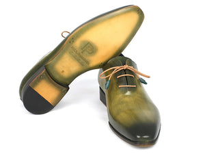 Paul Parkman Plain Toe Wholecut Green Oxfords - TieThis Neckwear and Accessories and TieThis.com