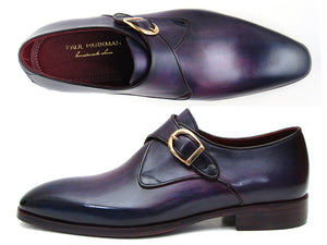 Single Monkstrap Shoes Purple - Tie This Menswear and Accessories