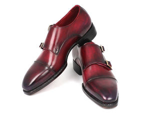 Paul Parkman Triple Leather Sole Hand-Welted Cap Toe Monkstraps - TieThis® Neckwear and Accessories