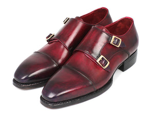 Paul Parkman Triple Leather Sole Hand-Welted Cap Toe Monkstraps - TieThis Neckwear and Accessories and TieThis.com