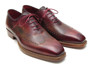 Wingtip Oxford Goodyear Welted Bordeaux & Light Brown - Tie This Menswear and Accessories