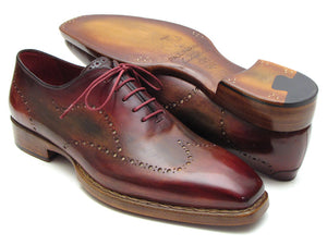 Wingtip Oxford Goodyear Welted Bordeaux & Light Brown - TieThis® Neckwear and Accessories