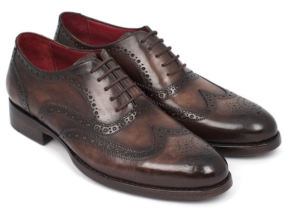 Shoes - Paul Parkman Wingtip Oxfords Goodyear Welted Brown (ID#027-BRW)