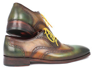 Paul Parkman Green Wingtip Calfskin Oxfords - TieThis Neckwear and Accessories and TieThis.com