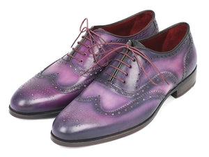 Paul Parkman Wingtip Oxfords Purple & Navy - TieThis Neckwear and Accessories and TieThis.com