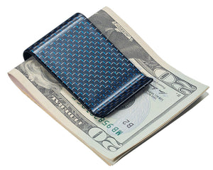 Blue Carbon Fiber Money Clip - TieThis Neckwear and Accessories and TieThis.com