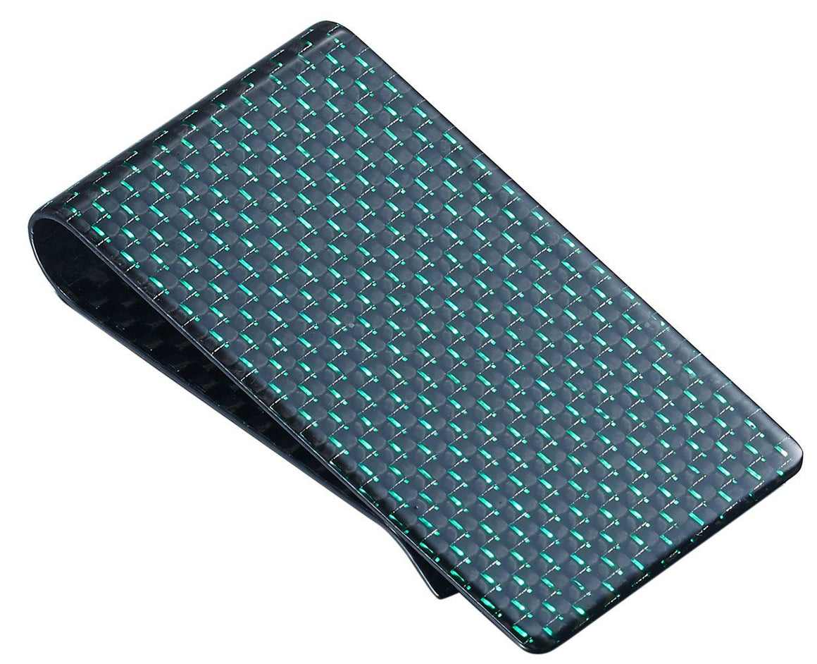 Green Carbon Fiber Money Clip - TieThis Neckwear and Accessories and TieThis.com