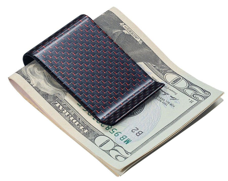 Red Carbon Fiber Money Clip - TieThis Neckwear and Accessories and TieThis.com