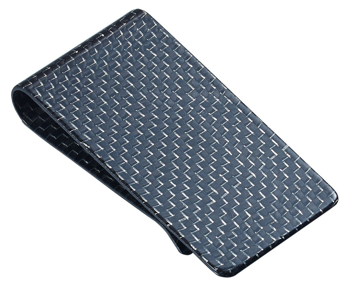 Silver Carbon Fiber Money Clip - TieThis Neckwear and Accessories and TieThis.com