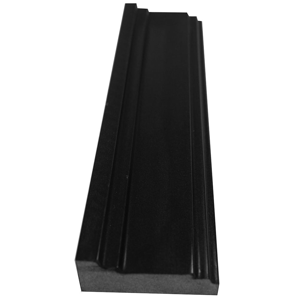 Absolute Black Granite Crown Rail Trim 3x12 Polished