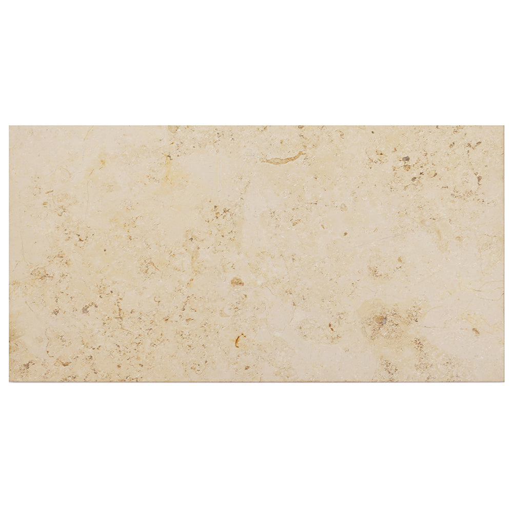 Jura Beige Limestone Rectangle Tile 12x24 Honed