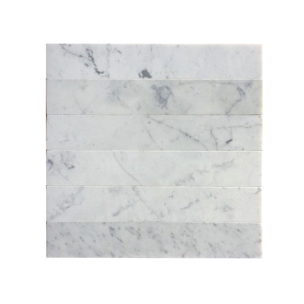 Carrara White Marble Rectangle Tile