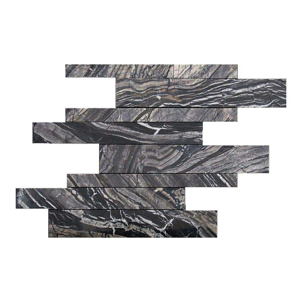 Zebrano Marble Linear Offset Mosaic