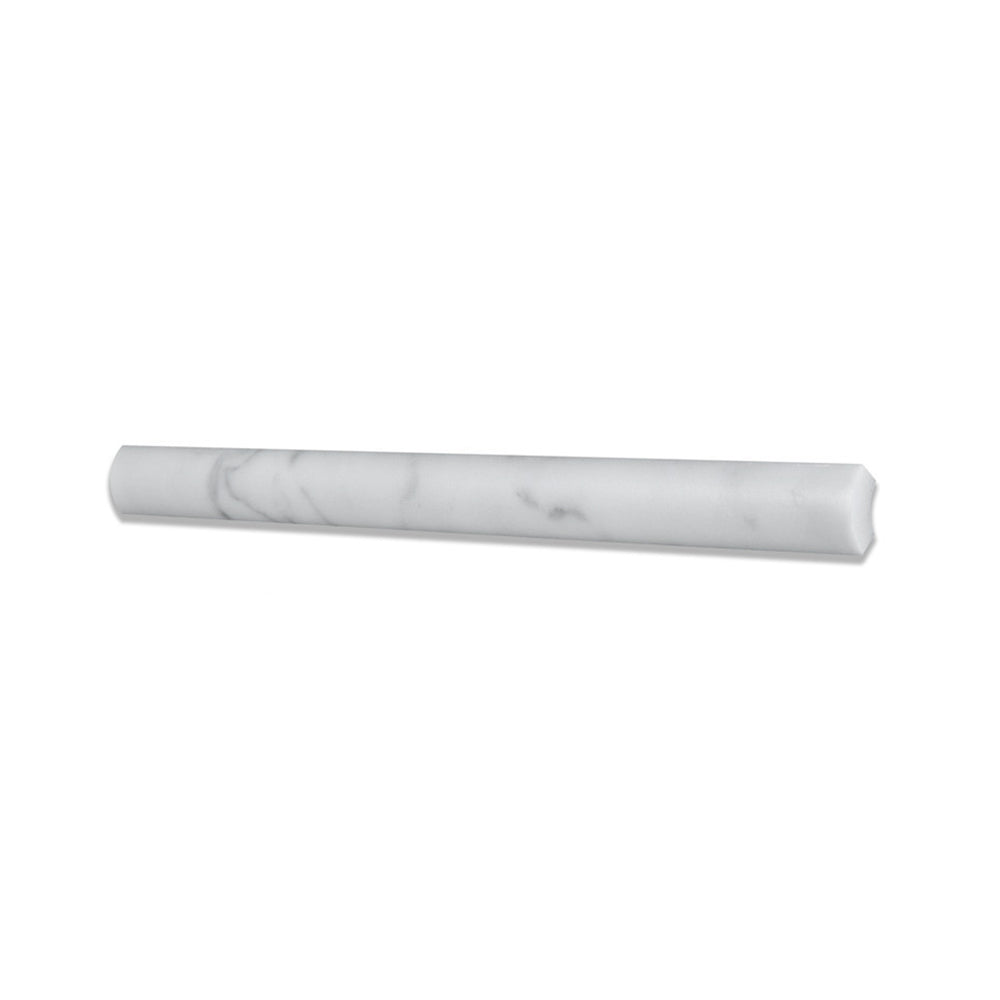 Carrara White Marble Quarter Round Trim