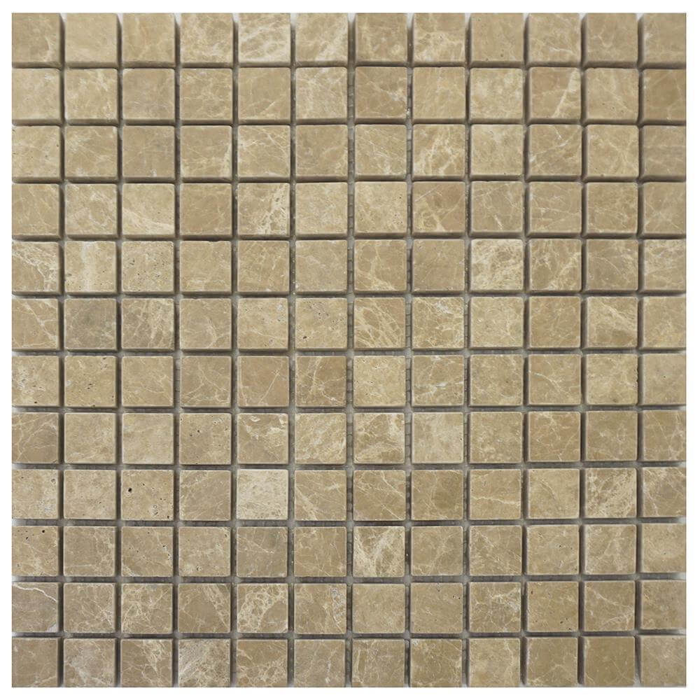 Emperador Light Marble Square Mosaic
