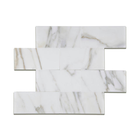Calacatta Gold Marble Rectangle Tile