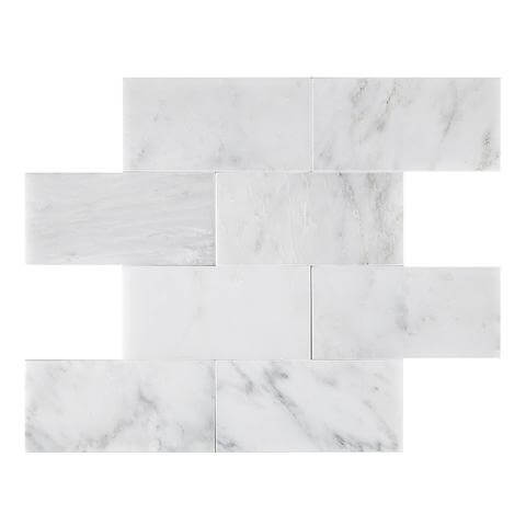 Calacatta Bella Marble Rectangle Tile