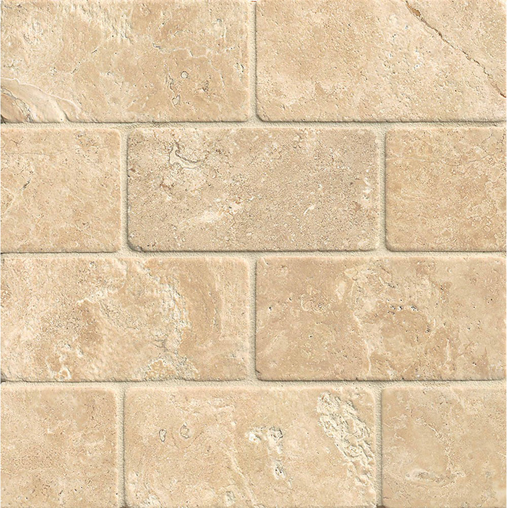 Torreon Travertine Rectangle Tile 3x6 Tumbled