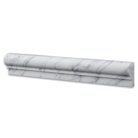 Carrara White Marble Chair Rail Trim