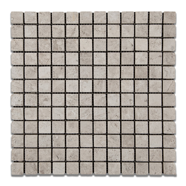 Arctic Grey Marble Square Mosaic