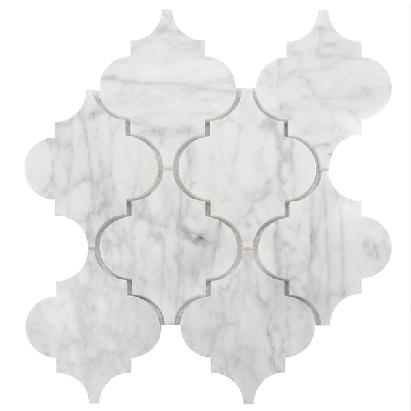 Carrara White Marble Arabesque Mosaic