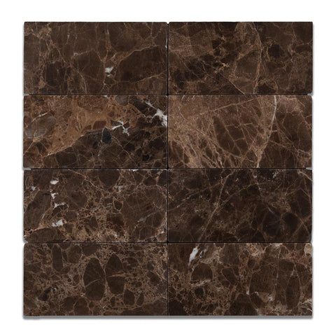 Emperador Dark Marble Rectangle Tile