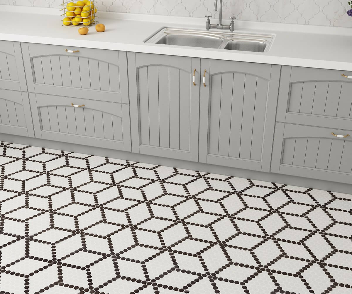 Metropolitan Chicago Porcelain Hexagon Matte Mosaic