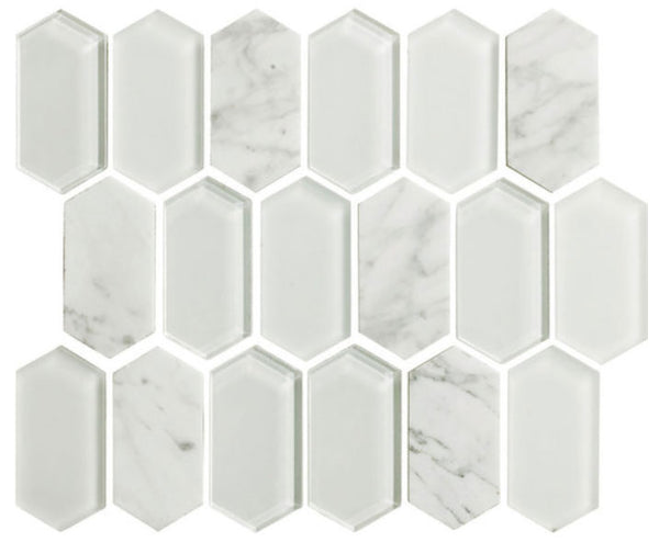 Alair Cotton Glass & Stone Mosaic