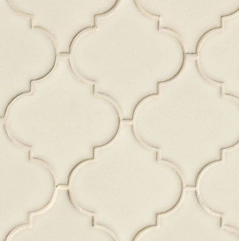 Antique White Arabesque Ceramic Mosaic