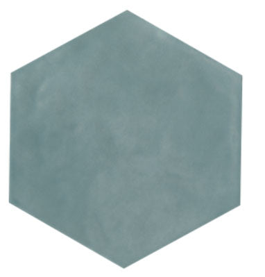 Maiolica Aqua Hexagon Ceramic Tile