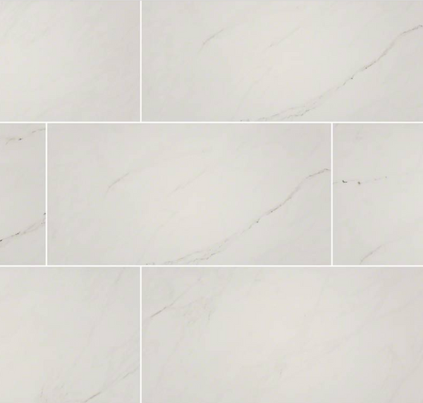 Aria Ice Porcelain Polished Marble Look Tile 24X48
