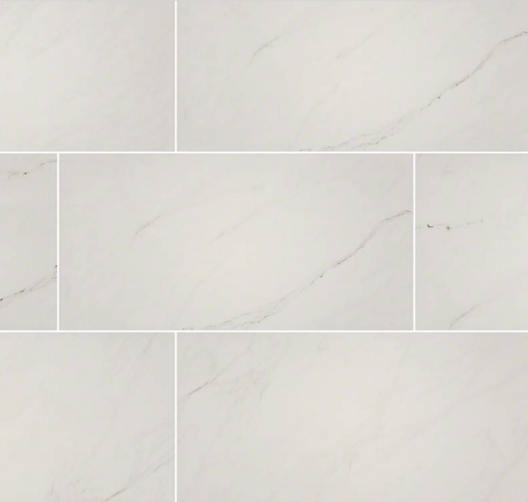 Aria Ice Porcelain Polished Marble Look Tile 24X24