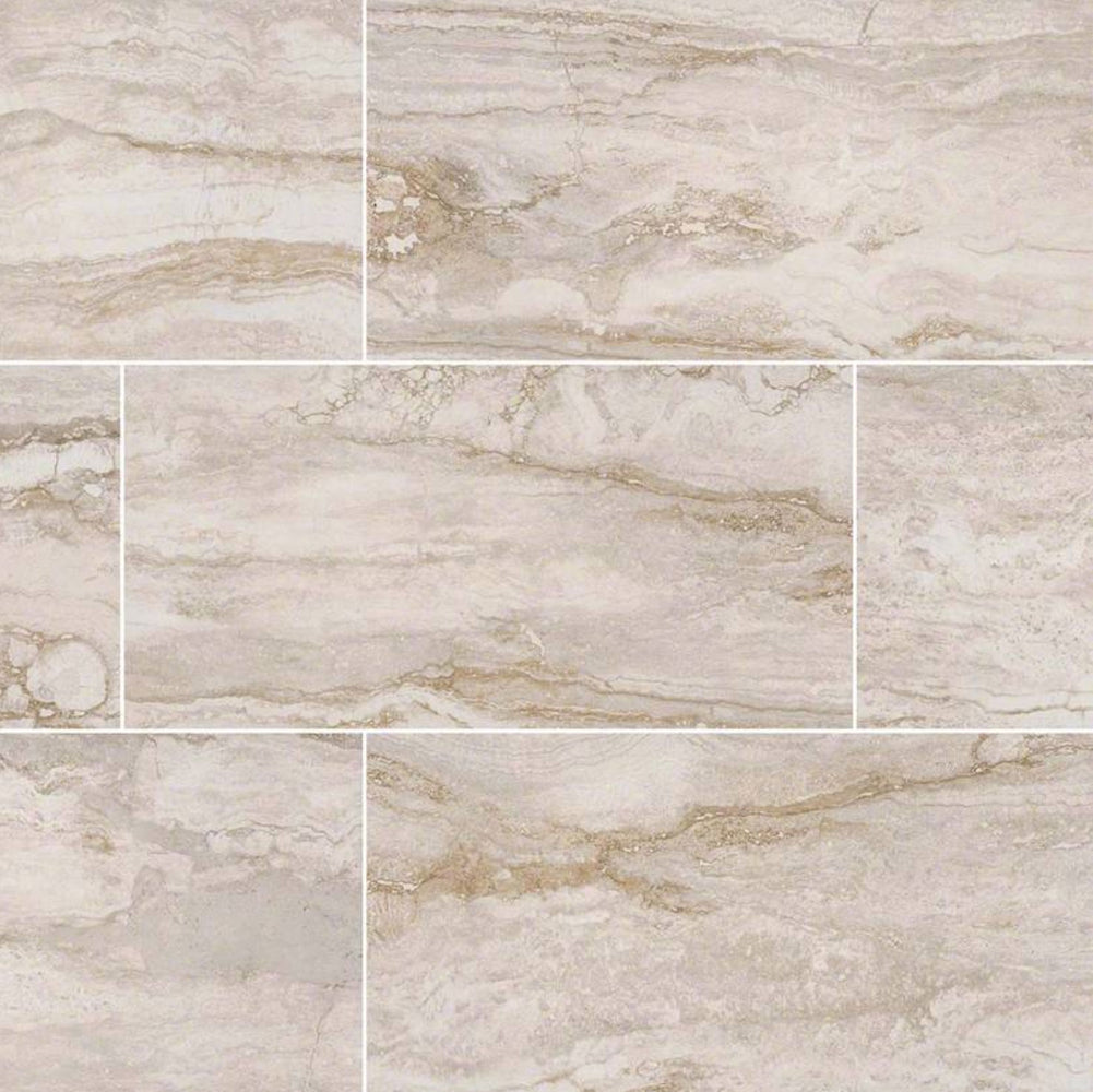 Pietra Bernini Blanco Matte Porcelain Travertine Look Tile