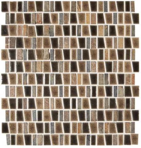 Midpark Bark Trapezoid Mixed Mosaic