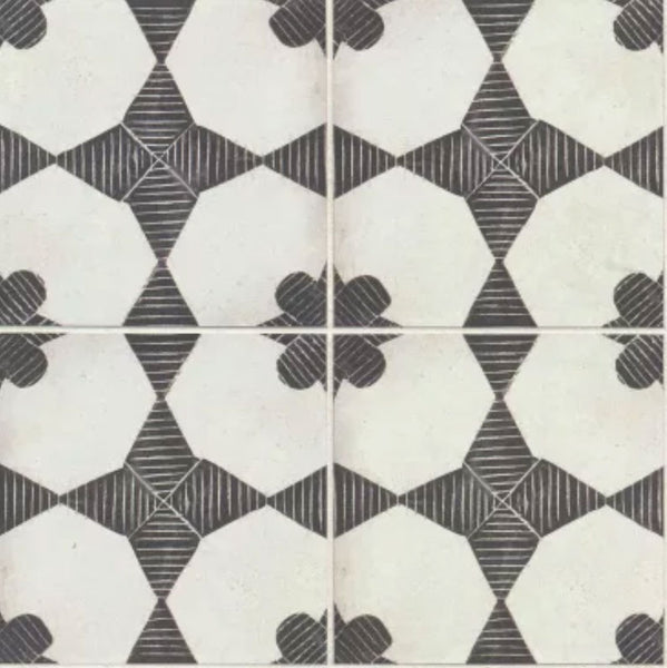Enchant Porcelain Encaustic Look Tile 8