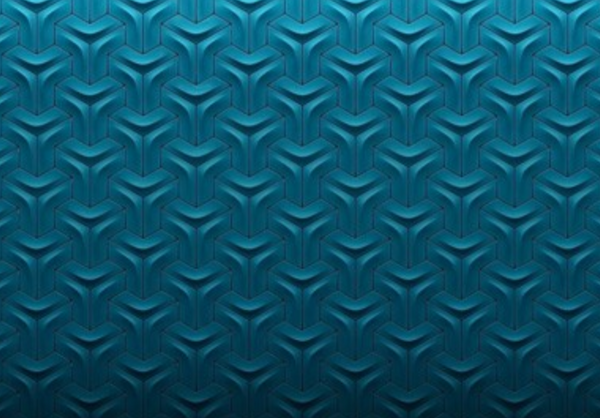 Versatile Arc Blue Ceramic Glossy 3D Wall Tile